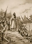 Erik the Saint Lands on the Coast of Finland, 1157 Wall Art & Canvas Prints by French School