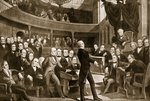 Henry Clay, urging measures of compromise to Congress in regard to the slavery dispute in January 1850 Wall Art & Canvas Prints by William Barnes Wollen