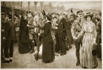The moment of farewell: A touching scene at Victoria Station during war time, 1915 Fine Art Print by Anonymous