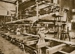 Women workers at a heavy metal armament factory, Fine Art Print by French School
