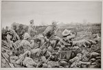 Sleepless Mafeking - Hot Work in the Trenches Fine Art Print by James Edwin McConnell