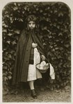 Agnes Grace Weld, as 'Little Red Riding Hood', 18th August 1857 Fine Art Print by Sir John Everett Millais