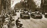 Victory Parade on Ujazdowskie Avenue in Warsaw: The Panzers roll by, 1939 Wall Art & Canvas Prints by English School
