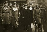 Molotov arrives in Berlin. Beside him are Foreign Minister von Ribbentrop and Keitel, 12th November 1940 Fine Art Print by English Photographer