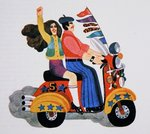 Revival of Mods, from 'Carnaby Street' by Tom Salter, 1970 Wall Art & Canvas Prints by Malcolm English