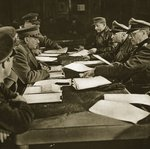 The reading of the Act of Capitulation, 5th May 1945 Fine Art Print by Dutch Photographer
