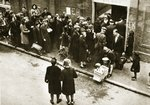 Queuing for soap and food Poster Art Print by Dutch Photographer