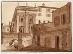 Michelangelo's House on the Capitoline Hill, 1833 Fine Art Print by Thomas Couture