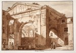 Portico of Octavia, 1833 Wall Art & Canvas Prints by Rudolph von Alt