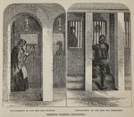 Friends visiting prisoners, illustration from 'The Criminal Prisons of London and Scenes from Prison Life' by Henry Mayhew and John Binny, pub. 1862 Fine Art Print by George Cruikshank