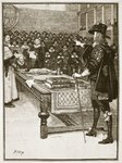 Trial of Charles, illustration from 'Cassell's Illustrated History of England' Fine Art Print by English School
