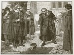 Scene at the funeral of Chillingworth, illustration from 'Cassell's Illustrated History of England' Fine Art Print by Edward Henry Wehnert