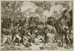 Death of Nelson, illustration from 'Cassell's Illustrated History of England' Fine Art Print by Daniel Maclise