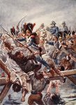 When the remnant of the Guard was seen clearing a way for the Emperor, there was a rush, illustration from 'Battles of the Nineteenth Century' by Archibald Forbes, G.A. Henty and Major Arthur Griffiths Wall Art & Canvas Prints by Christian Kaempf