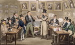 Cribb's Parlour: Tom introducing Jerry and Logic to the Champion of England, from 'Life in London' by Pierce Egan, 1821 Fine Art Print by Anwar Hussein