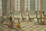 Dance that is fashionable with the Greek women of Constantinople, led by the woman holding a handkerchief, engraved by Ignazio Colombo, c.1816