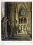 Entrance into Poet's Corner, plate 26 from 'Westminster Abbey', engraved by J. Bluck Fine Art Print by Thomas Uwins