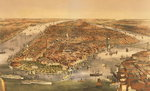The City of New York, pub. by Currier and Ives, 1870 Fine Art Print by English School