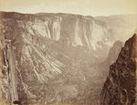 View in the Yosemite Valley, 1872 Poster Art Print by Cuban Photographer
