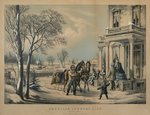 American Country Life- Pleasures of Winter, printed and published by Nathaniel Currier Wall Art & Canvas Prints by William Snr. Shayer