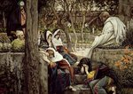 Jesus at Bethany, illustration for 'The Life of Christ', c.1886-96 Fine Art Print by Tilly Willis