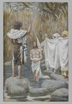 The Baptism of Jesus, illustration from 'The Life of Our Lord Jesus Christ' (w/c over graphite on paper) Wall Art & Canvas Prints by Bartolomeo Passarotti