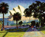 Sydney Opera House, PM, 1990 (oil on canvas) Wall Art & Canvas Prints by Ted Blackall