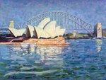 Sydney Opera House, AM, 1990 (oil on canvas) Fine Art Print by Ted Blackall