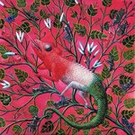 Great Chameleon, 1996 Wall Art & Canvas Prints by Emily Stannard