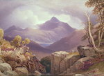Ben Lomond Fine Art Print by William Beattie Brown