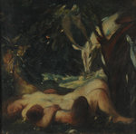 Study for The Sleeping Wood Nymph, 1903-06 (oil on canvas) Fine Art Print by Peter Paul Rubens