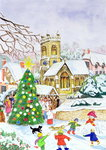 Village Festivities, 2005 (w/c on paper) Fine Art Print by Judy Joel