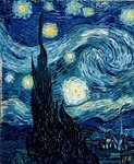 The Starry Night, June 1889 Fine Art Print by Simon Cook