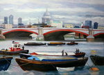 Busy Scene at Blackfriars, 2005 Fine Art Print by Tom Young