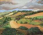 From Solsbury Hill (oil on canvas) Wall Art & Canvas Prints by Vilhelm Hammershoi