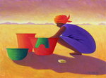 Washer Woman, 1999 (oil on canvas) Fine Art Print by Tilly Willis