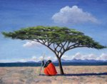 The Shady Tree, 1992 (oil on canvas) Fine Art Print by Tilly Willis