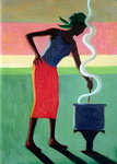 Cooking Rice, 2001 (oil on canvas) Fine Art Print by Tilly Willis