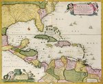 Map of Central America Poster Art Print by Spanish School