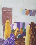 Market Kerven, Eritrea II Postcards, Greetings Cards, Art Prints, Canvas, Framed Pictures, T-shirts & Wall Art by Shanti Panchal