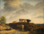Cows at a Watering Place, Wall Art & Canvas Prints by Achille Etna Michallon
