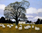 Sheep at Middleton Park, Oxfordshire Fine Art Print by English School