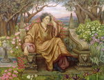 A Soul in Hell Fine Art Print by Evelyn De Morgan