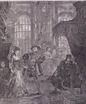 King Henry the Eighth and Anna Bullen Fine Art Print by Martin II Mytens or Meytens