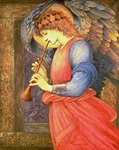 An Angel Playing a Flageolet, 1878 Fine Art Print by Dante Gabriel Rossetti