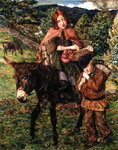 Going to Market, 1860 Wall Art & Canvas Prints by Dante Gabriel Rossetti