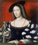 Princess Marguerite of Angouleme, c.1530 Wall Art & Canvas Prints by Francois Clouet