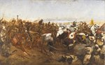 The Charge of the 21st Lancers at the Battle of Omdurman, 1898 Fine Art Print by Edward Matthew Hale