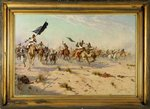 The Flight of the Khalifa at the Battle of Omduran, 1898 Fine Art Print by Richard Caton Woodville