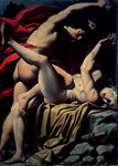 The Death of Abel (oil on canvas) Postcards, Greetings Cards, Art Prints, Canvas, Framed Pictures & Wall Art by Mattia Preti